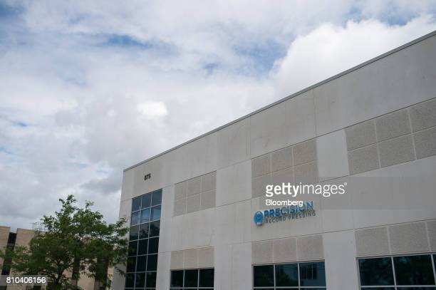 Signage is displayed outside the Precision Record Pressing facility in Burlington Ontario Canada on Friday June 30 2017 Precision is the world's...