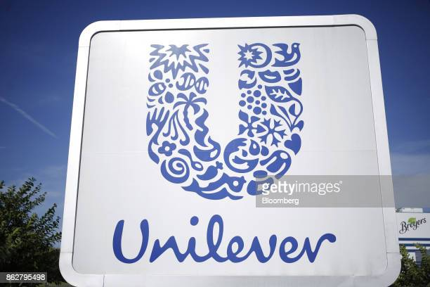Signage is displayed outside the Unilever Plc ice cream facility in Covington Tennessee US on Tuesday Oct 3 2017 Unilever is scheduled to release...