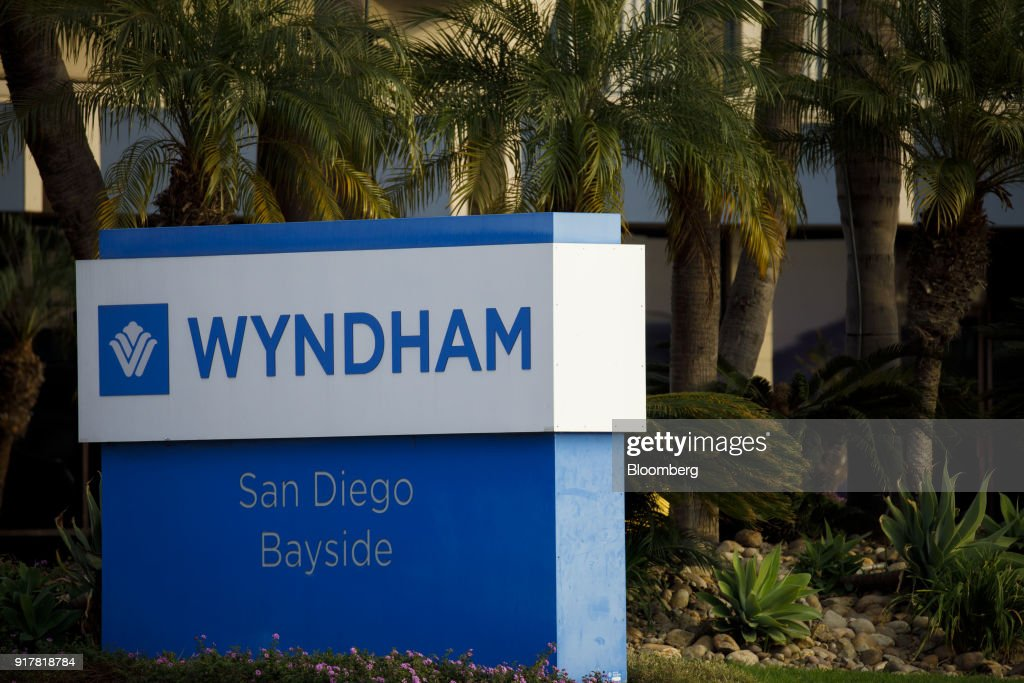 Signage is displayed outside the Wyndham San Diego Bayside hotel in San Diego, California, U.S., on Sunday, Feb. 11, 2018. Wyndham Worldwide Corp. is scheduled to release earnings figures on February 14. Photographer: Patrick T. Fallon/Bloomberg via Getty Images