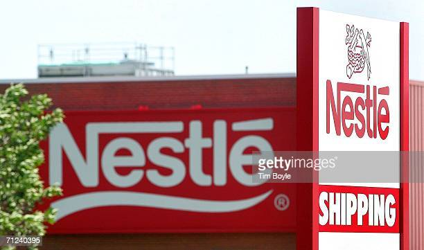 Signage is seen at a Nestle facility June 19 2006 in Franklin Park Illinois Switzerland's Nestle SA said today they are buying the weightloss company...