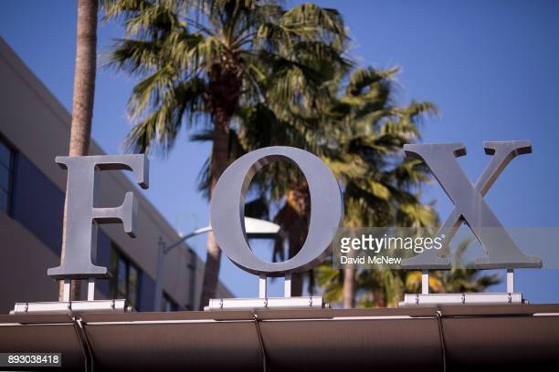 Signage is seen at the main entrance to Fox Studios after the Walt Disney Company announced that it will acquire 21st Century Fox on December 14 2017...