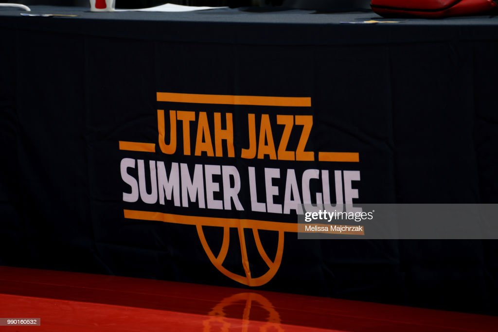 signage is seen during the 2018 Utah Summer League on July 2, 2018 at vivint.SmartHome Arena in Salt Lake City, Utah.