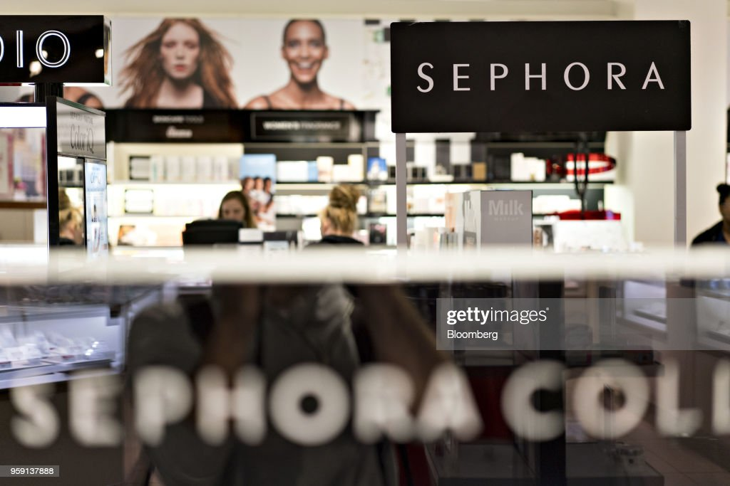 Signage is seen in the Sephora JCPenney area inside a J.C. Penney Co. store in Peoria, Illinois, U.S., on Saturday, May 12, 2018. J.C. Penney Co. is scheduled to release earnings figures on May 17. Photographer: Daniel Acker/Bloomberg via Getty Images