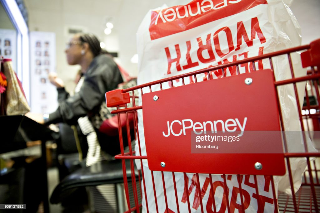 Signage is seen on a shopping cart inside a J.C. Penney Co. store in Peoria, Illinois, U.S., on Saturday, May 12, 2018. J.C. Penney Co. is scheduled to release earnings figures on May 17. Photographer: Daniel Acker/Bloomberg via Getty Images