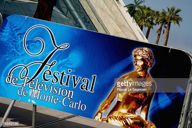 Signage is seen outside the Grimaldi Forum on the first day of the 2007 Monte Carlo Television Festival on June 11 2007 in Monte Carlo Monaco