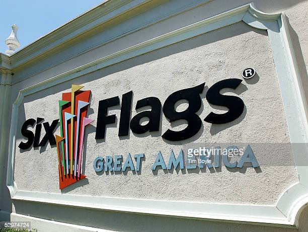Signage lies near the entrance to Six Flags Great America May 24 2005 in Gurnee Illinois Looking to protect park visitors Six Flags now has...