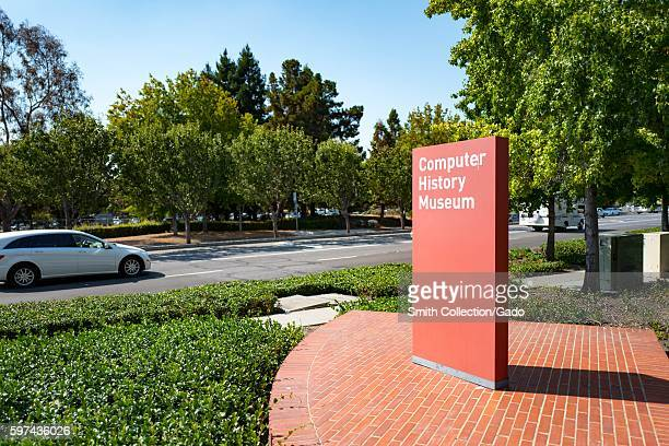Signage near Shoreline Boulevard at the Computer History Museum in the Silicon Valley town of Mountain View, California, August 24, 2016. .
