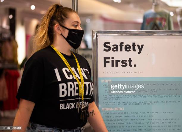 Signage notes new guidelines in a store at the Mall of America on June 10, 2020 in Minneapolis, Minnesota. Today marks the first day the destination...