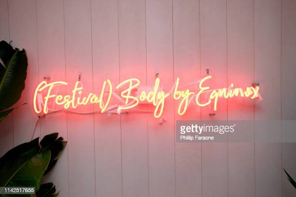 Signage on display at the American Express Platinum House at the Avalon Hotel Palm Springs on April 13 2019 in Palm Springs California