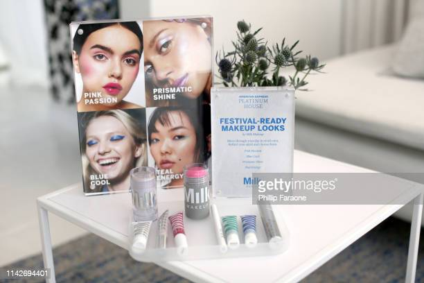 Signage on display at the American Express Platinum House at the Avalon Hotel Palm Springs on April 14 2019 in Palm Springs California