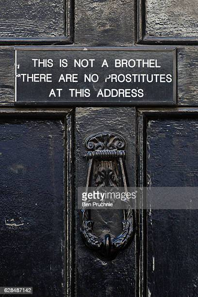 Signage outside a property on Meard Street in Soho on March 29 2016 in London England Long established as the West Ends entertainment district with a...