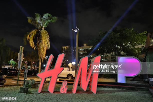 Signage outside HM Presents Charli XCX Powered By Pandora on November 16 2017 in Fort Lauderdale Florida