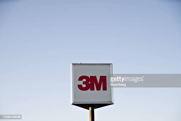 Signage stands at the 3M Co Cottage Grove Center in Cottage Grove Minnesota US on Thursday Oct 18 2018 3M's Cottage Grove factory had been churning...