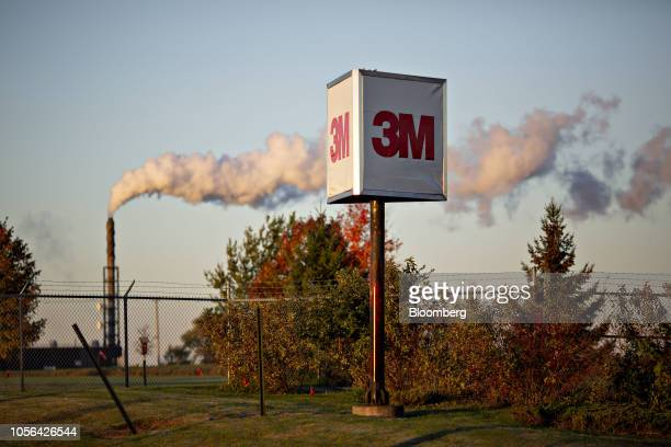 Signage stands outside the 3M Co Cottage Grove Center in Cottage Grove Minnesota US on Thursday Oct 18 2018 3M's Cottage Grove factory had been...