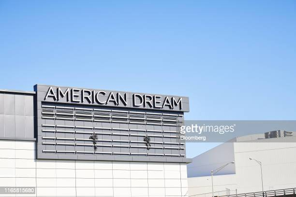 Signage stands outside the American Dream complex in East Rutherford New Jersey US on Thursday Aug 29 2019 After 16 years of false starts the...
