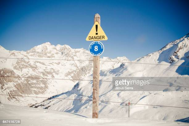 Signal in Val D´Isère, Alps, Savoie, France