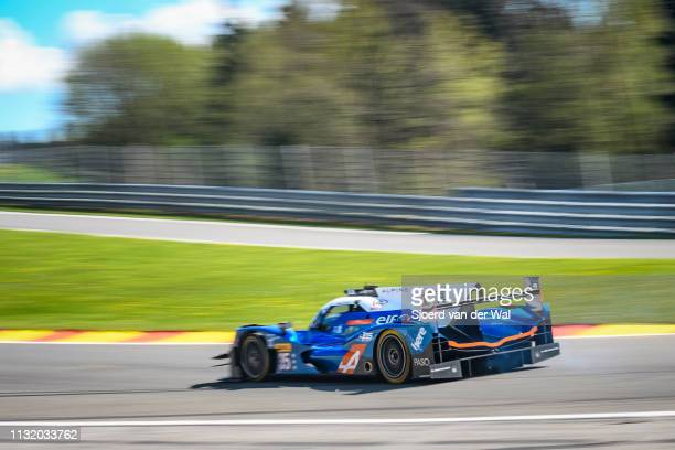 Signatech Alpine A460 - Nissan LMP2 race car driven by D. CHENG / H. TUNG / N. PANCIATICI up Raidillon on track during the 6 Hours of...