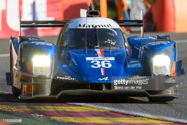 Signatech Alpine A460 - Nissan LMP2 race car driven by G. MENEZES / N. LAPIERRE / S. RICHELMI on track during the 6 Hours of Spa-Francorchamps race,...
