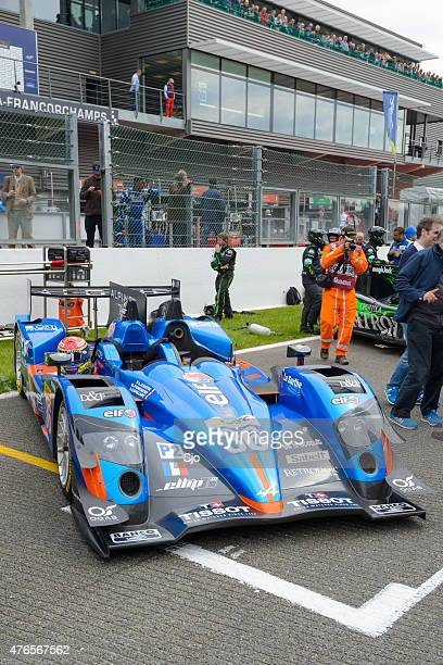 Signatech-Alpine Alpine A450-b LMP2 race car at the start grid