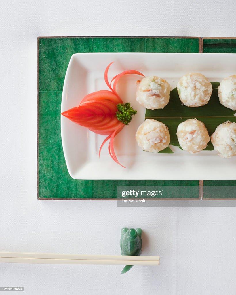 A signature dish at Yan Toh Heen, Hong Kong : Stock Photo