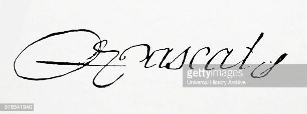 Signature of Blaise Pascal a French mathematician physicist inventor writer and Christian philosopher Dated 17th Century