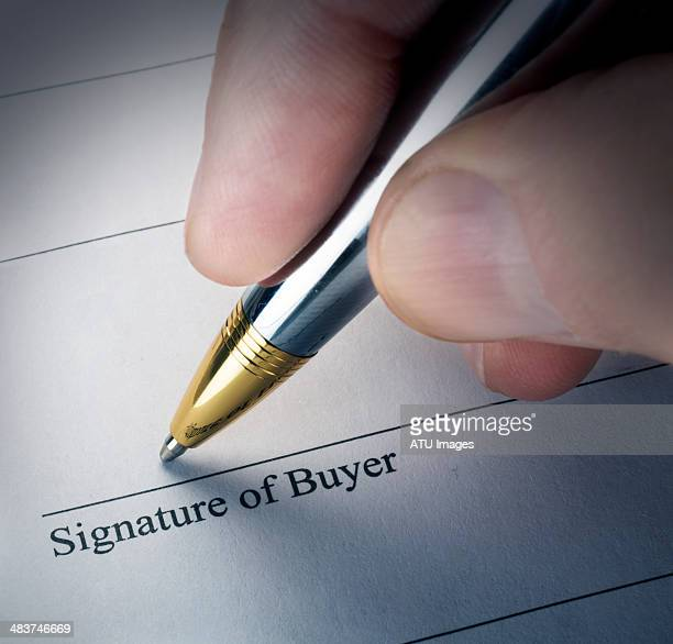 signature of buyer