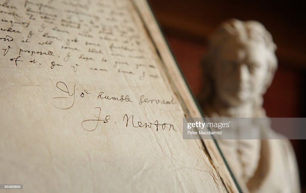 Manuscripts Are Displayed To Celebrate 350 Years Of The Royal Society : News Photo