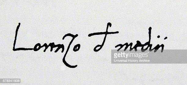 Signature of Lorenzo de' Medici an Italian statesman and de facto ruler of the Florentine Republic Dated 15th Century
