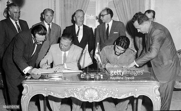 Signature of the Agreement of technical assistance between USSR and Cuba at the Ministery for Foreign Affairs. By this agreement, Cuba's...