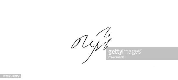 signature of tsar peter i the great (1672-1725), emperor of russia - duke stock pictures, royalty-free photos & images