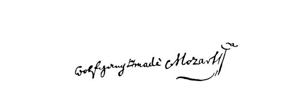 Signature of Wolfgang Amadeus Mozart (27 January 1756 – 5 December 1791) Johannes Chrysostomus Wolfgangus Theophilus Mozart - prolific and influential composer of the Classical period.