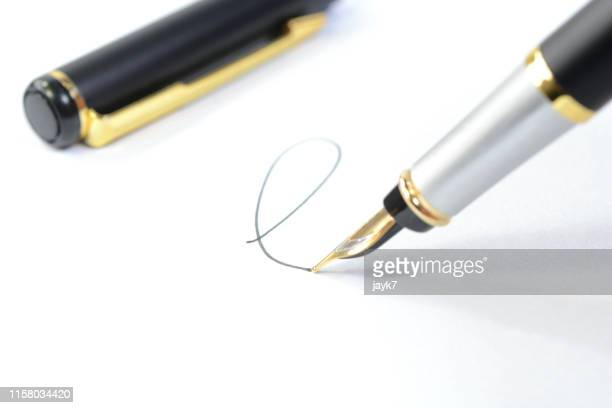 signature - 万年筆 ストックフォトと画像