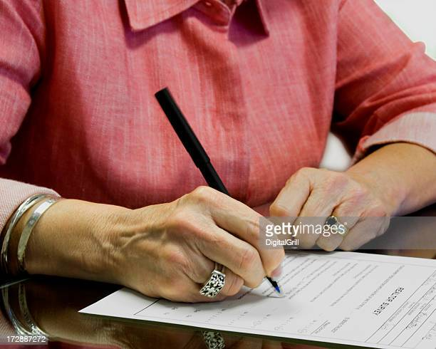 signature - form filling stock photos and pictures