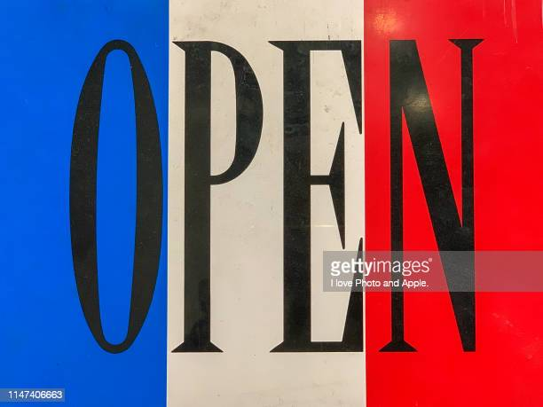 signboard during the store's opening - store opening stock pictures, royalty-free photos & images