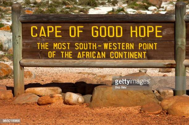 Signboard on cape of good hope