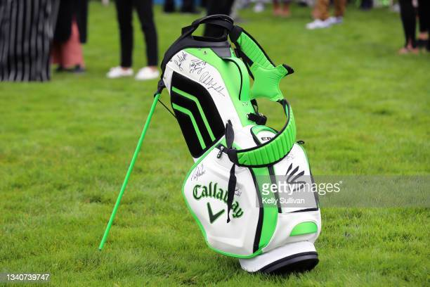Signed auction item is seen at The Workday Charity Classic, hosted by Stephen and Ayesha Curry's Eat. Learn. Play. And Workday, at Franklin...