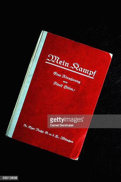 A signed copy of Adolph Hitler's Mein Kampf is displayed on June 2 2005 in London England The Vol 1 First Edition signed by Hitler is one of a few...