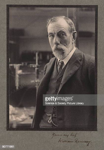 Signed photographic portrait. Sir William Ramsay was professor of Chemistry in Bristol and at University College London . He is best known for his...