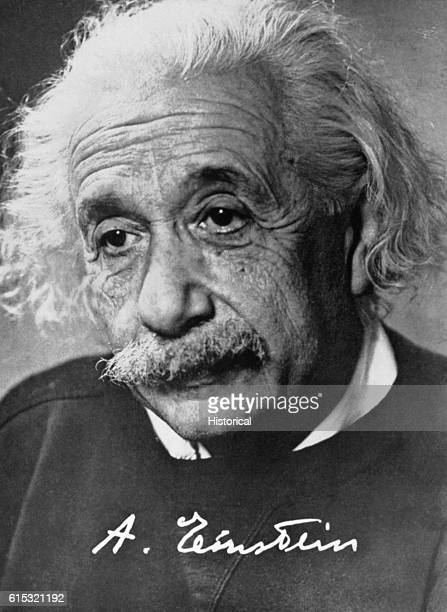 Signed Portrait of Albert Einstein