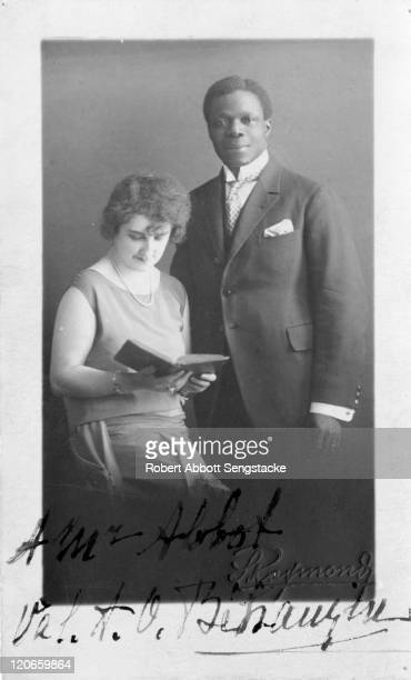 Signed portrait of Prince Ouanilo Behanzin of Dahomey and his wife 1929
