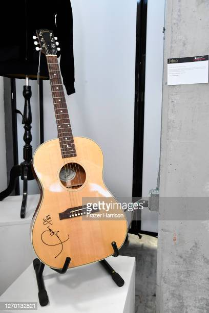 A signed Taylor Swift Guitar at Julien's Auctions who are Hosting MusiCares Charity Relief Press Preview at Julien's Auctions on September 01 2020 in...