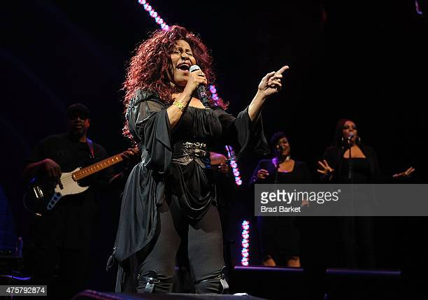 Signer Chaka Khan performs at Celebrate Brooklyn 2015 opening night gala Chaka Khan concert at Prospect Park Bandshell on June 3 2015 in New York City