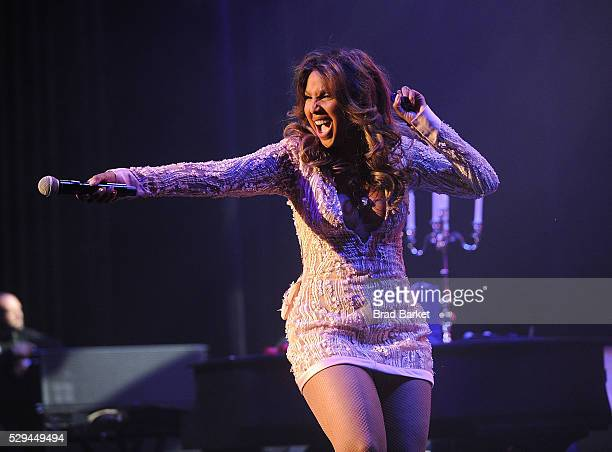 Signer Toni Braxton peforms at Artist Spotlight Toni Braxton With Andra Day 2016 Grammy Park In Brooklyn at Kings Theatre on May 8 2016 in the...