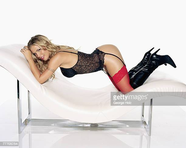 Signer Willa Ford is photographed for FHM Magazine on November 4 2003 in New York City PUBLISHED IMAGE