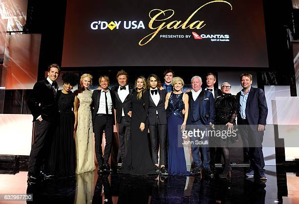 Signers Hugh Sheridan We Mcdonald actress Nicole Kidman musician Keith Urban hosts Richard Wilkins Renee Bargh singer Isaiah Firebrace...