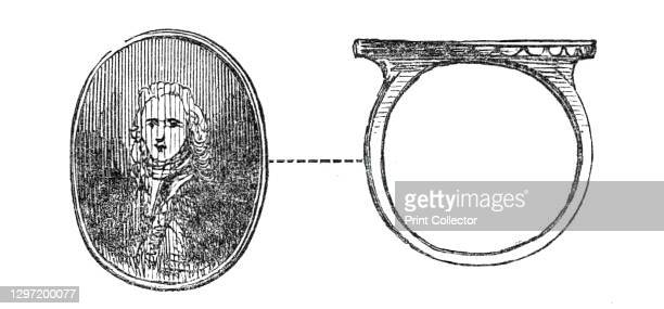 Signet-ring of the Pretender, 1845. Ring said to belong to pretender to the English throne Charles Edward Stuart, known as Bonnie Prince Charlie or...