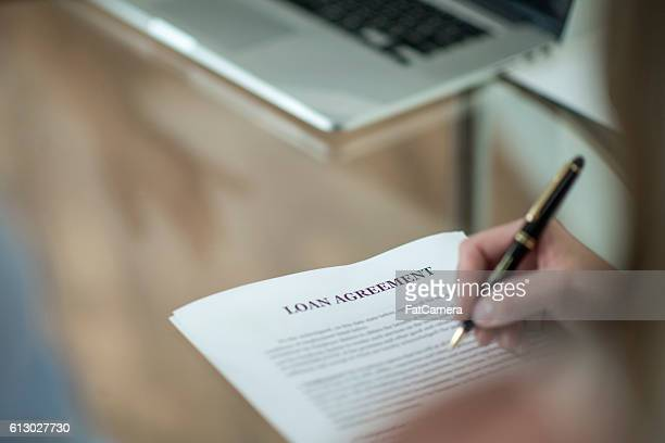 Signing a Loan Agreement