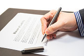 Signing a waiver of liability form