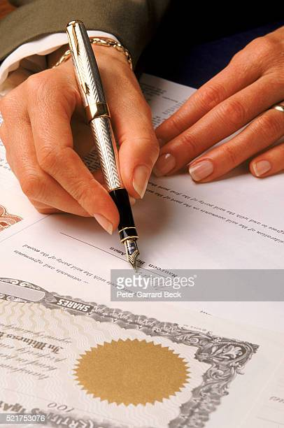 signing financial documents - vintage stock stock pictures, royalty-free photos & images