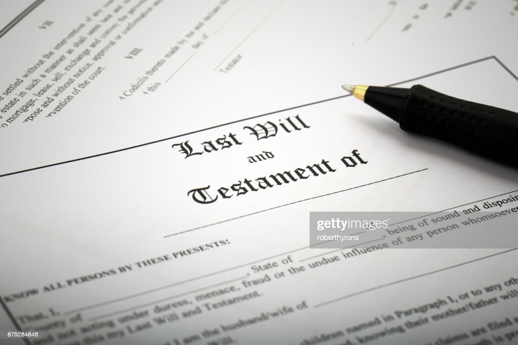 Signing Last Will & Testament : Stock Photo